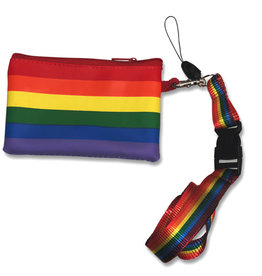 RAINBOW RAINBOW W COIN PURSE LANYARD