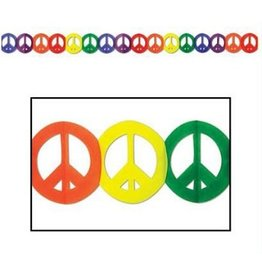 RAINBOW RAINBOW PEACE SIGN GARLAND