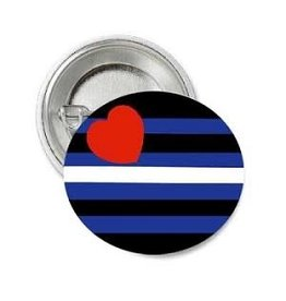 RAINBOW LEATHER PRIDE BUTTON