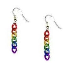 RAINBOW RAINBOW CHAIN EARRINGS (single)