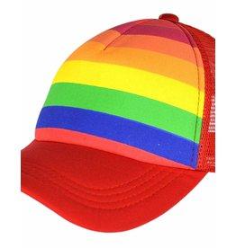 RAINBOW TRUCKER RAINBOW PRINTED STRIPES CAP