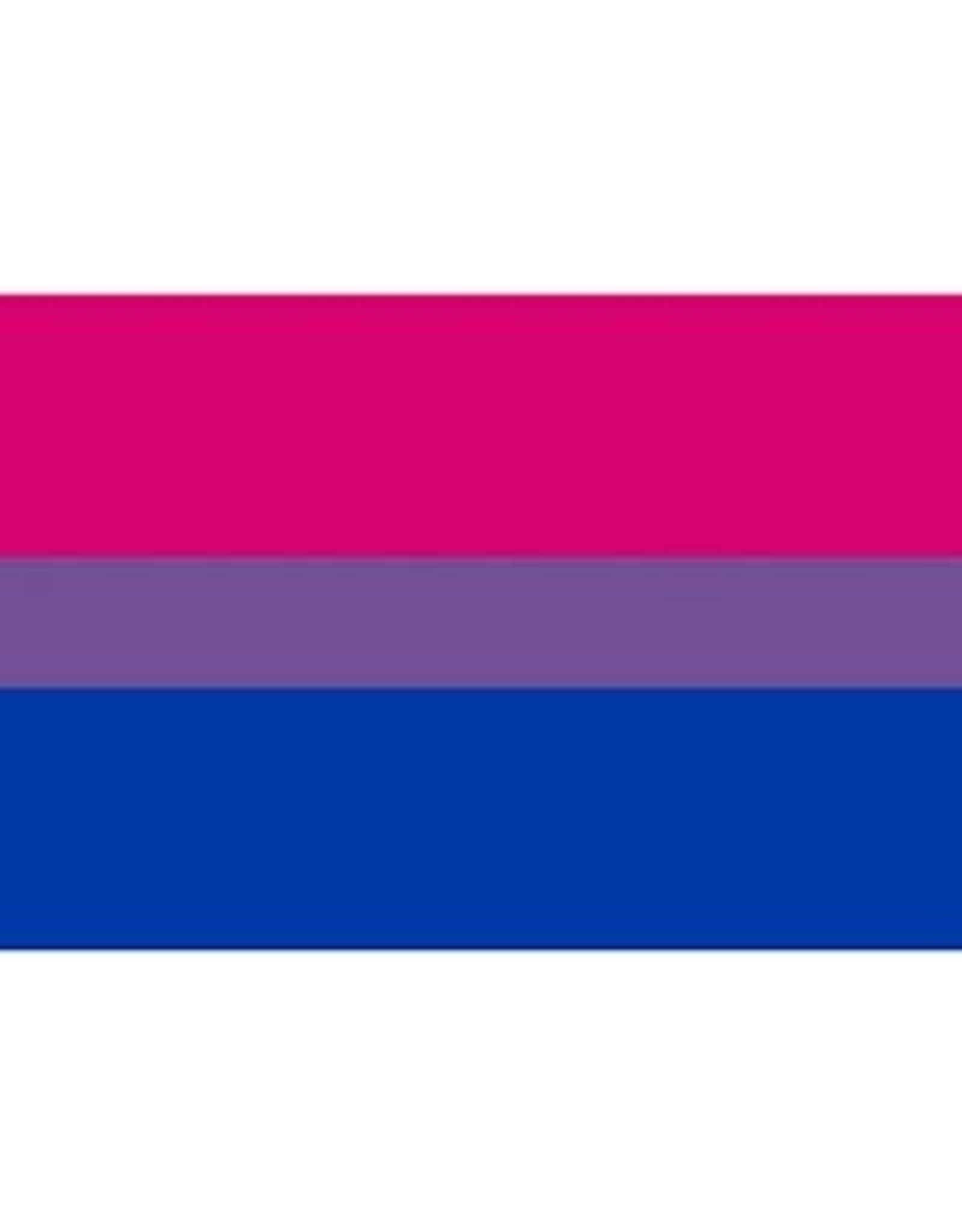 "BISEXUAL FLAG STICKER 3.75""x5"""
