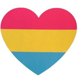 RAINBOW PANSEXUAL HEART STICKER