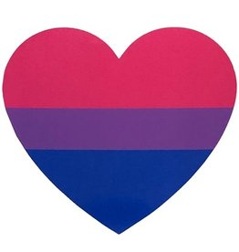 RAINBOW BISEXUAL HEART STICKER