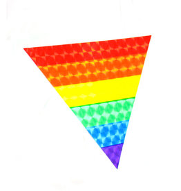 RAINBOW RAINBOW TRIANGLE REFLECTIVE STICKER