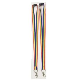 RAINBOW RAINBOW RIBBON WITH NECK SNAP CLOSURE LANYARD