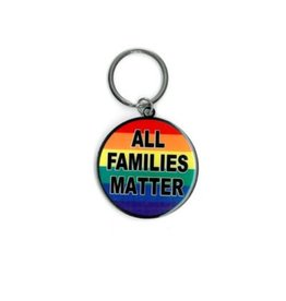 YUJEAN ALL FAMILIES MATTER METAL KEYCHAIN