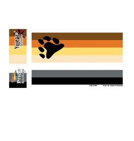 "YUJEAN BEAR FLAG STICKER 5""x3.75"""