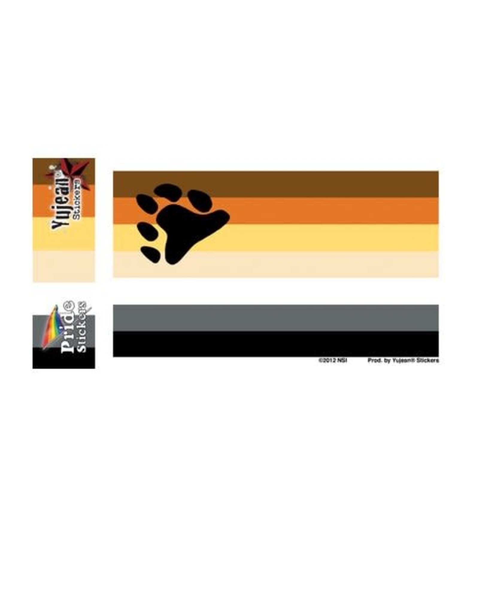 "YUJEAN BEAR FLAG STICKER 5""x3.75"""