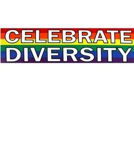 Pride not Prejudice CELEBRATE DIVERSITY STICKER