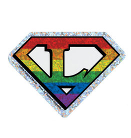 YUJEAN DIAMOND CUT L LESBIAN STICKER REFLECTIVE