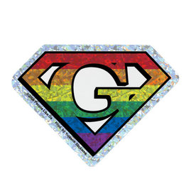 YUJEAN DIAMOND CUT G GAY STICKER REFLECTIVE