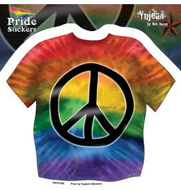 YUJEAN TIE DYE GAY PRIDE PEACE SHIRT STICKER