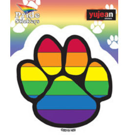 YUJEAN RAINBOW PRIDE PAW STICKER