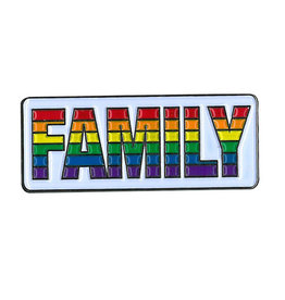 YUJEAN FAMILY RAINBOW ENAMEL PIN