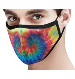 RAINBOW TIE DYE REVERSABLE FACE MASK