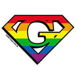 YUJEAN DIAMOND CUT G GAY STICKER SMALL