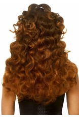 """LEG AVENUE 24"""" LONG CURLY PONYTAIL WIG BROWN"""