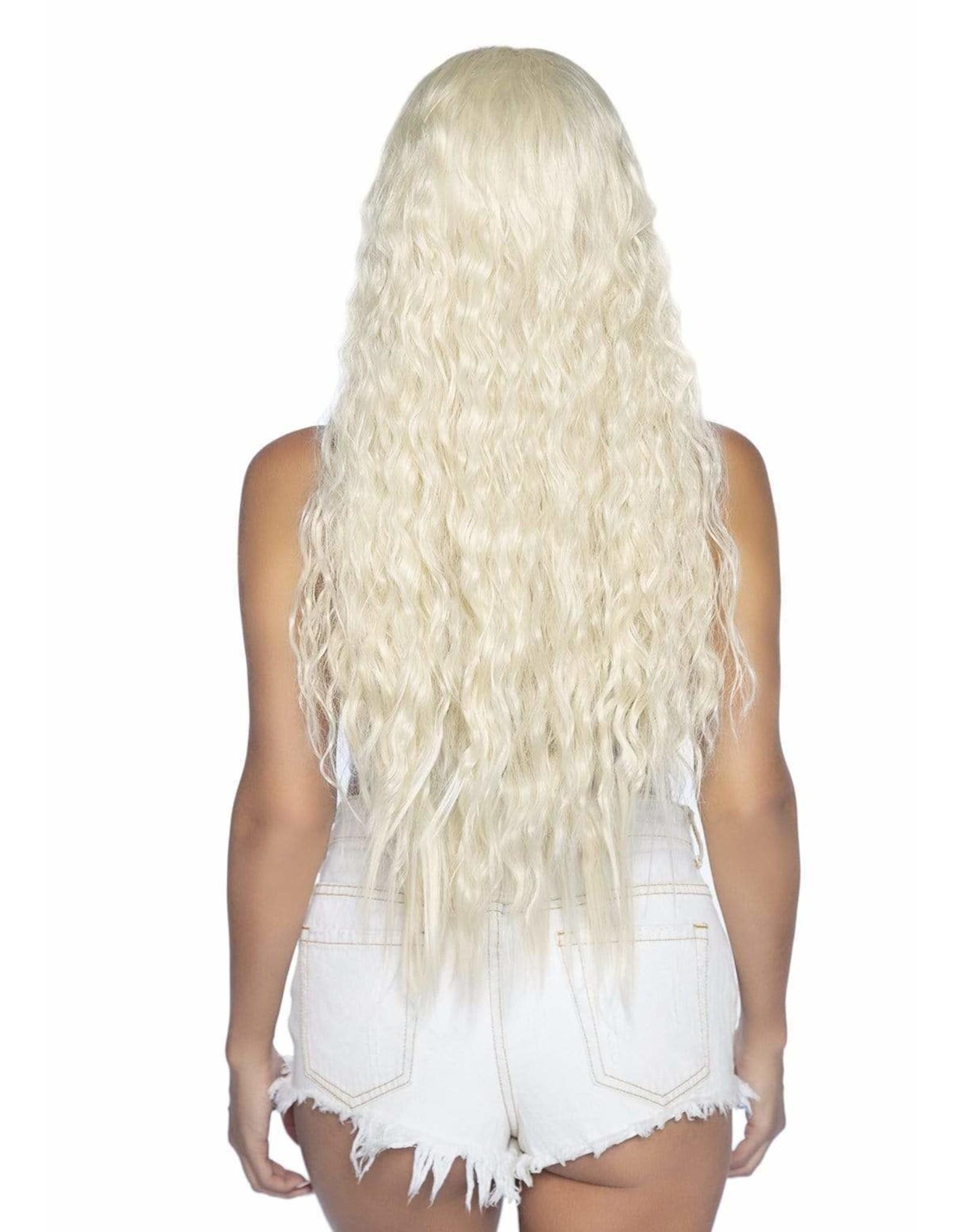 "LEG AVENUE 29"" BEACHY WAVE LONG HAIR WIG BLONDE"