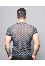 ANDREW CHRISTIAN ANDREW CHRISTIAN BARBED WIRE SHEER DEEP V NECK