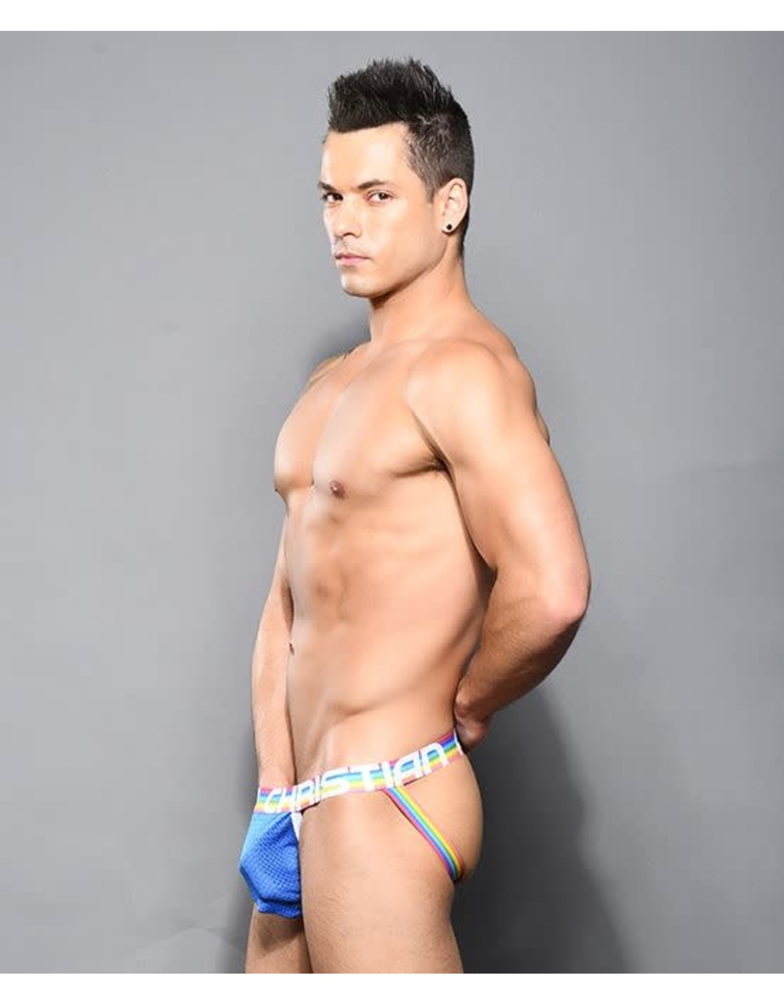 ANDREW CHRISTIAN ANDREW CHRISTIAN PRIDE MESH JOCK WITH ALMOST NAKED BLUE