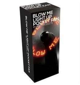 "HOT PRODUCTS N-POCKET FAN,LIGHT UP ""BLOW ME"",BLACK"