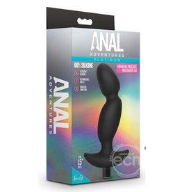 BLUSH NOVELTIES Anal Adventures Platinum Silicone Rechargeable Vibrating Prostate Massager 04 - Black
