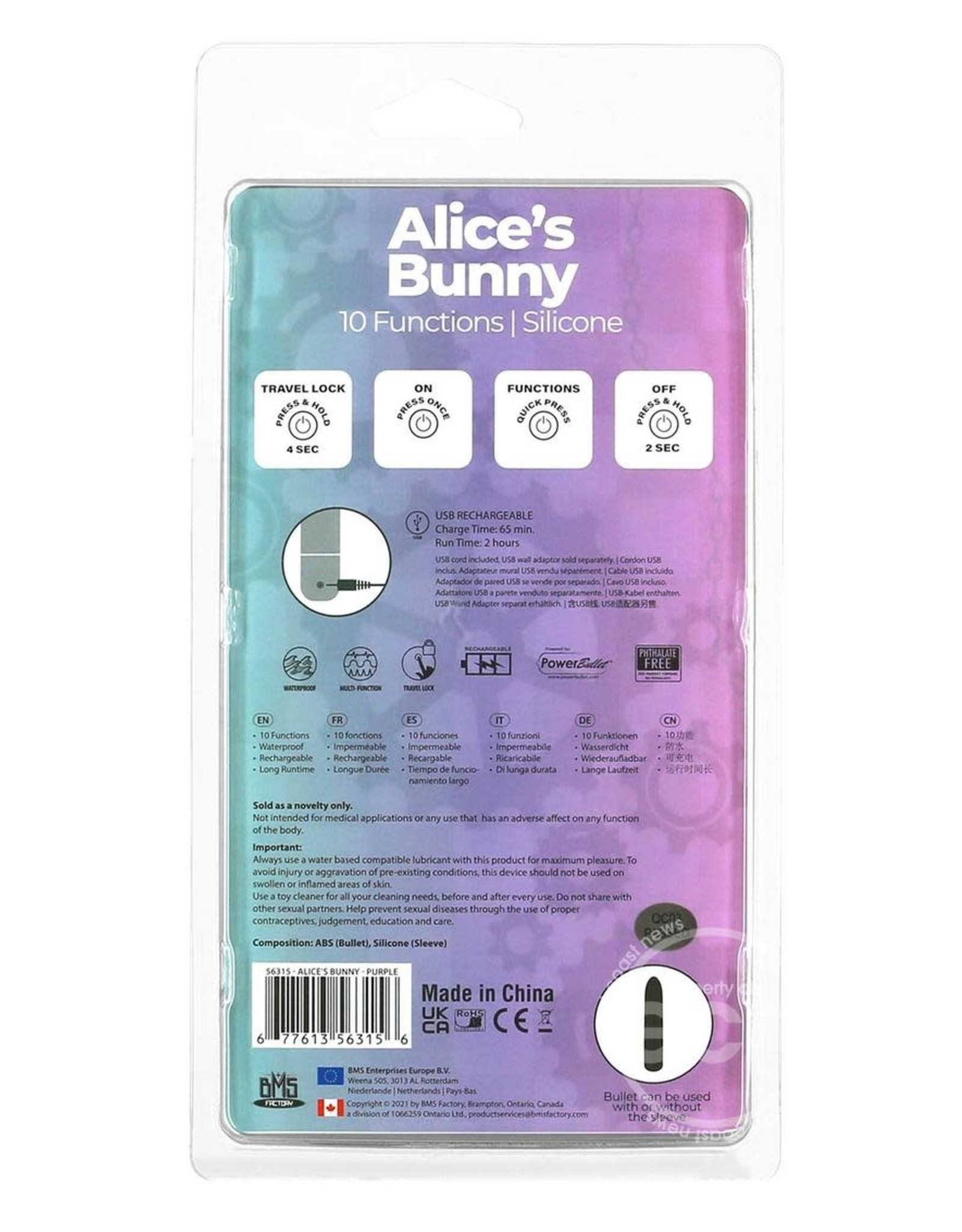 BMS Factory ALICES BUNNY