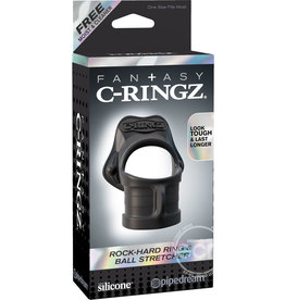 PIPEDREAM PRODUCTS FANTASY C-RINGZ ROCK HARD COCK RING & BALL STRETCHER