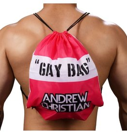 """ANDREW CHRISTIAN ANDREW CHRISTIAN """"GAY BAG"""" (PINK) BACKPACK"""
