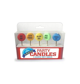 Little Genie Productions X-RATED PARTY CANDLES 5 PACK