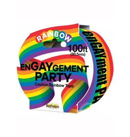 Hott Products ENGAYGEMENT PARTY RAINBOW CAUTION TAPE