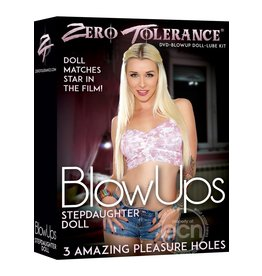 ZERO TOLERANCE BLOW UPS STEPDAUGHTER DOLL W/ DVD AND LUBE