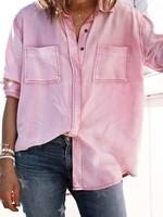 Dusty Pink Mineral Washed V-Neck Vintage Shirt