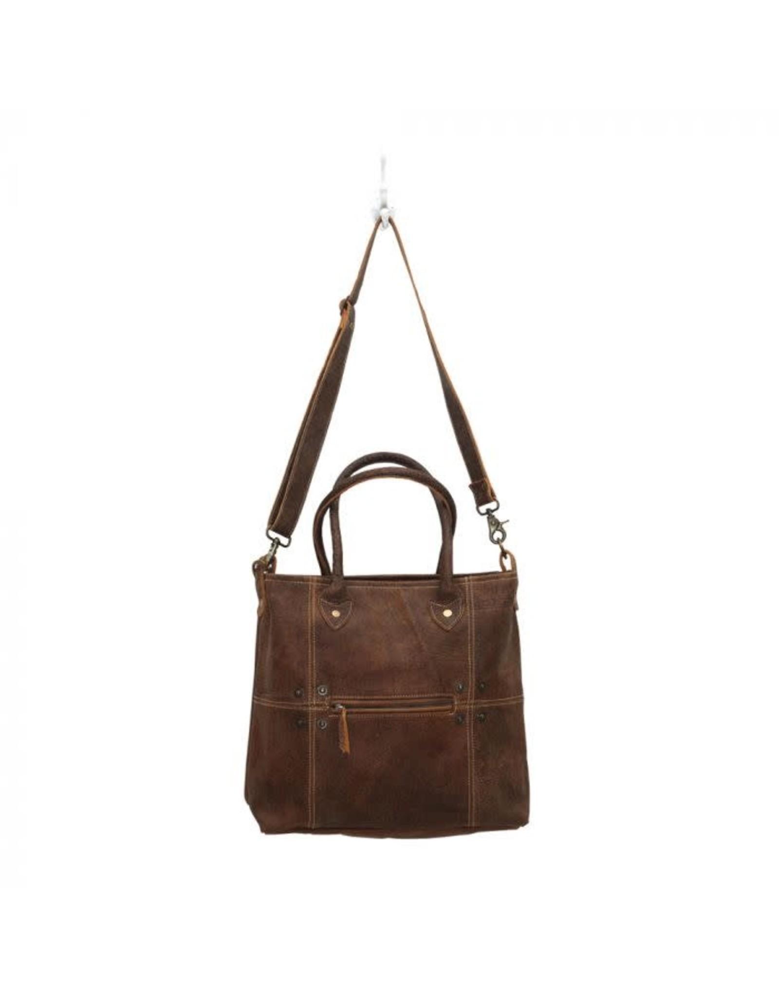 Myra Button & Stitches Leather Bag
