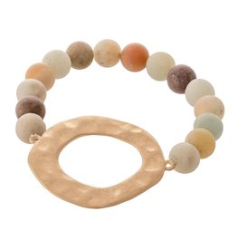 Judson Semi Precious Natural Stone Beaded Stretch Bracelet
