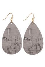 Judson Cork Inspired Teardrop Earrings - Gray
