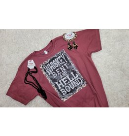Reese & Company Whiskey Bent & Hell Bound Leopard Tee