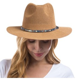 Judson Woven Panama Hat Featuring Multicolor Band