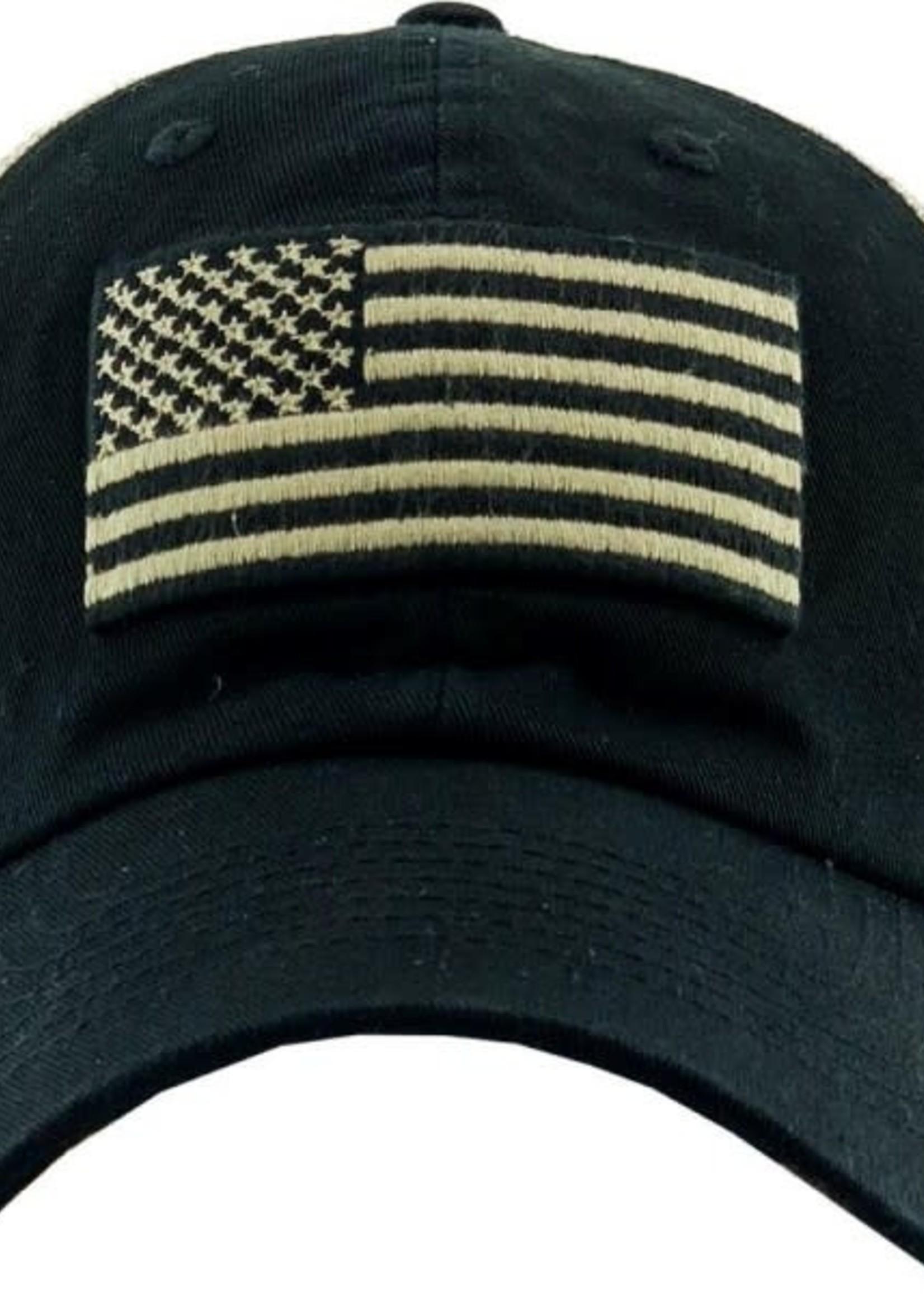Vintage Distressed USA Flag Mesh Baseball Cap