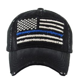 Judson Faded American Flag Vintage Distressed Baseball Cap