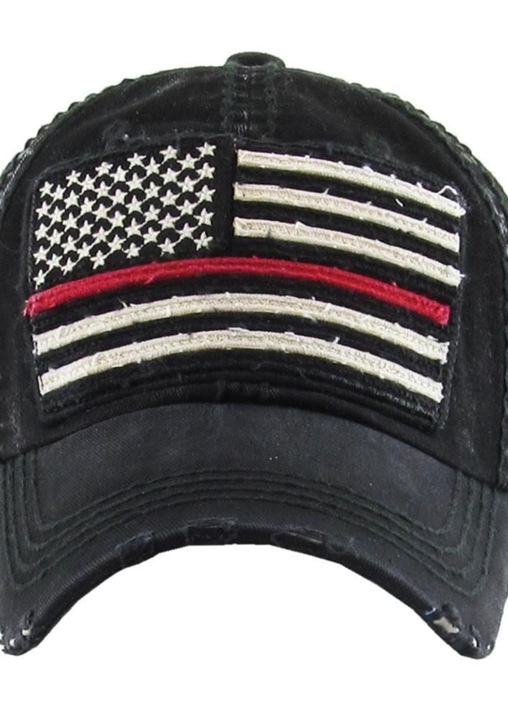 Faded American Flag Vintage Distressed Baseball Cap