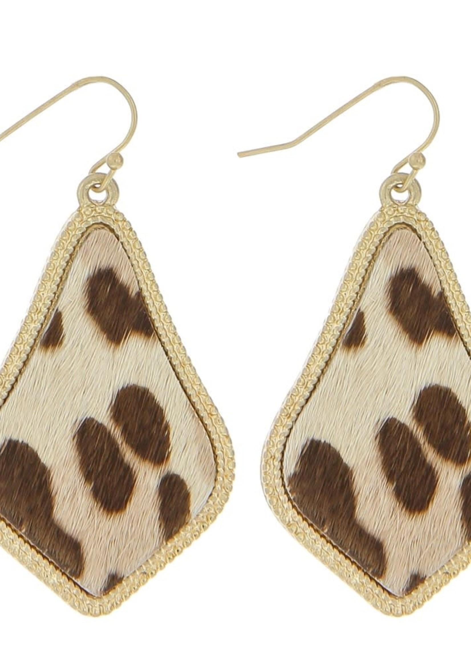 Leopard Drop Earrings