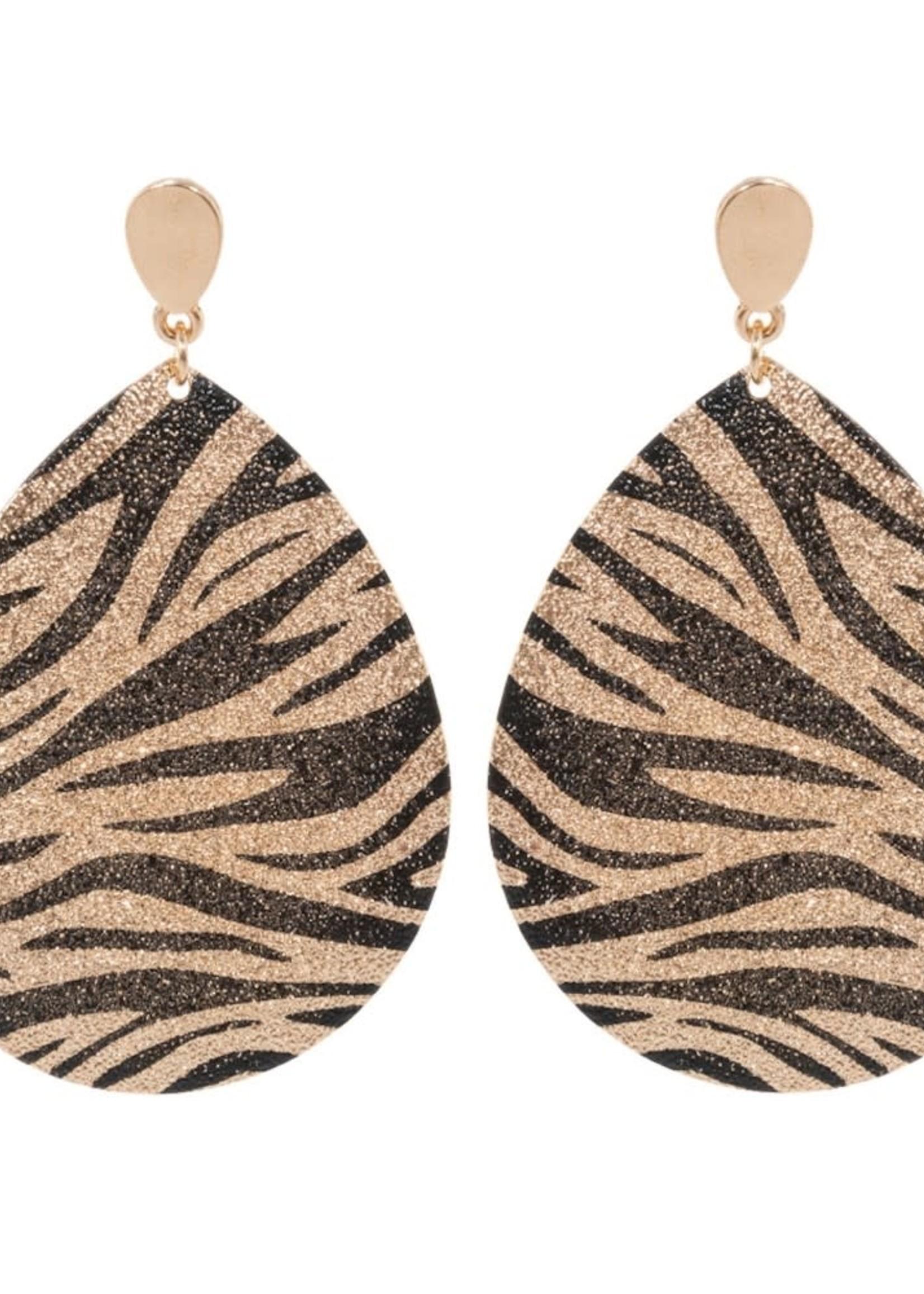 Tiger Print Teardrop Earrings
