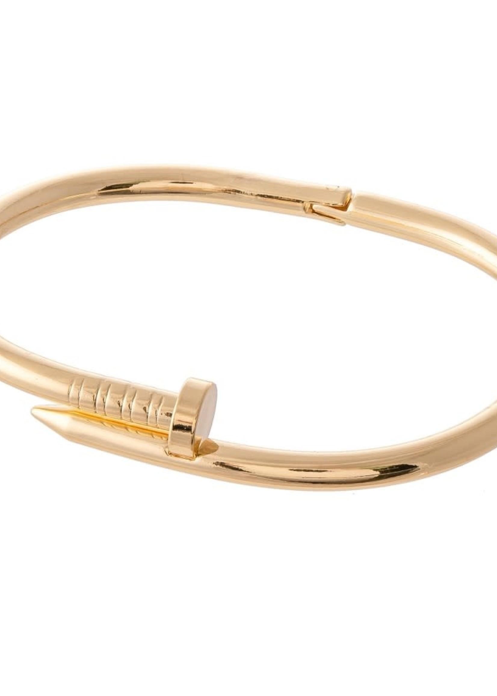 Hinge Nail Bangle Bracelet