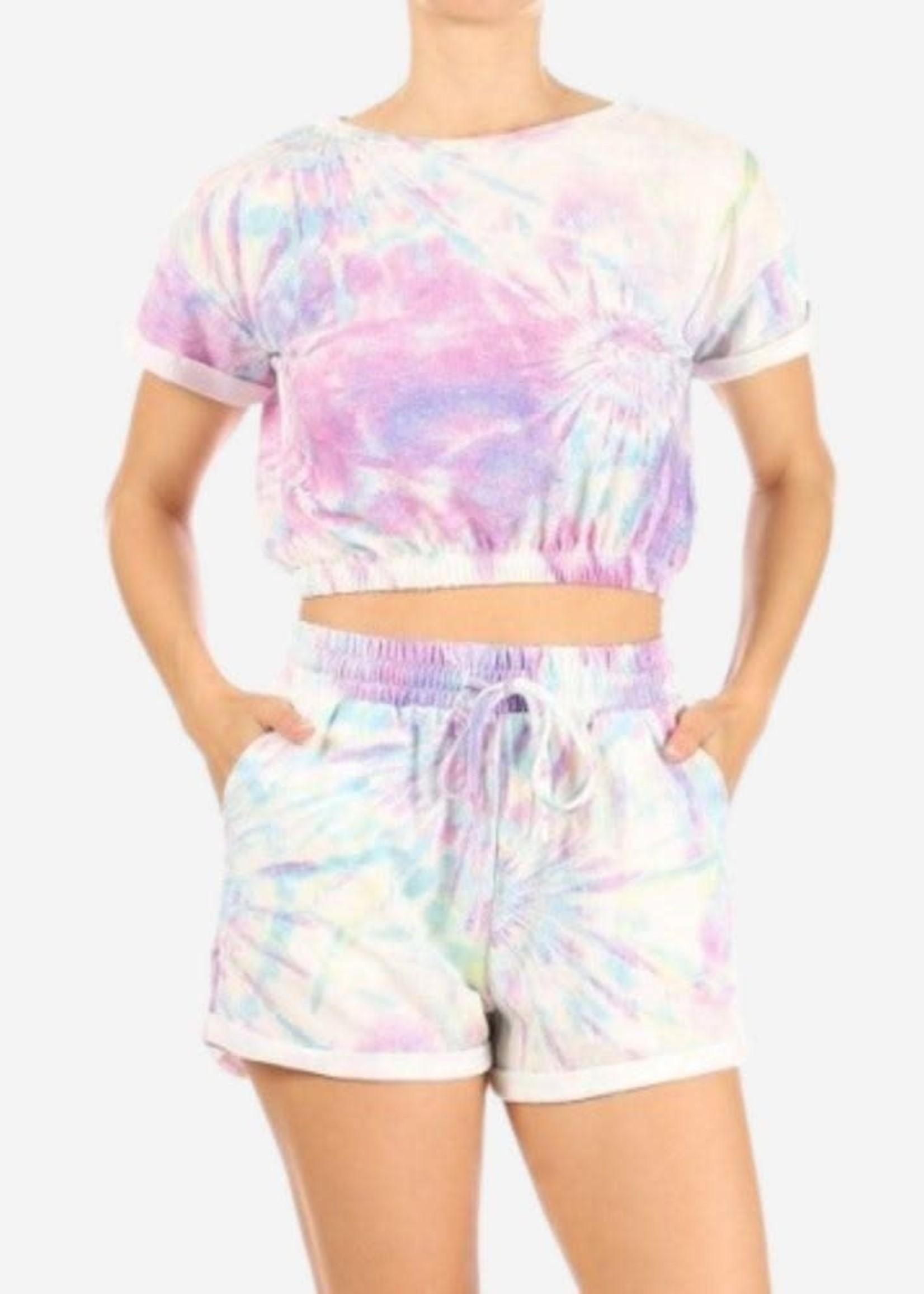Tie Dye Loungewear - Purple Pastel
