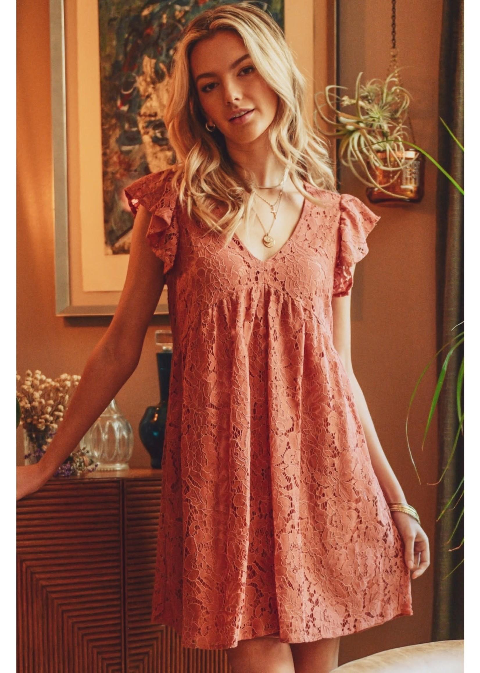 Jodi FL Lace Babydoll Dress