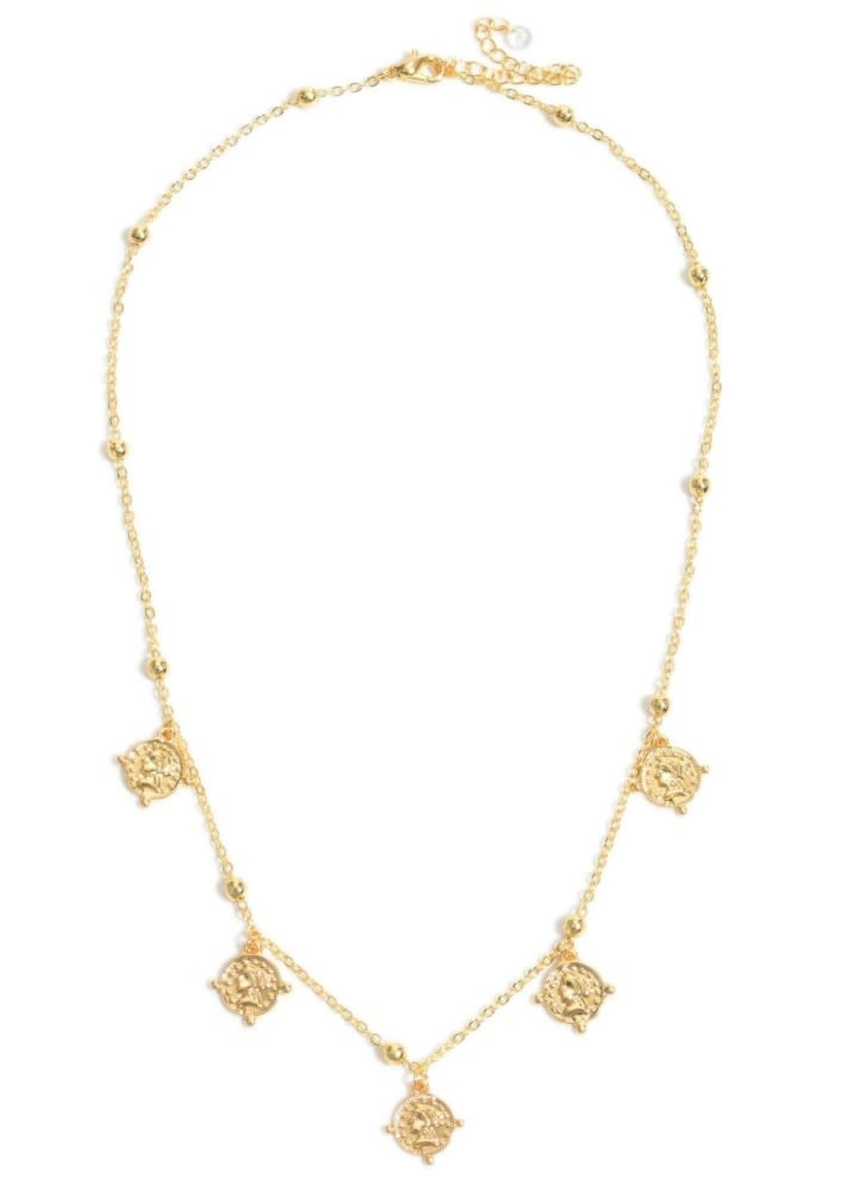 Judson Coin Floater Necklace in Gold