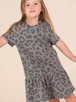 12PM Animal Print Peplum Style Dress