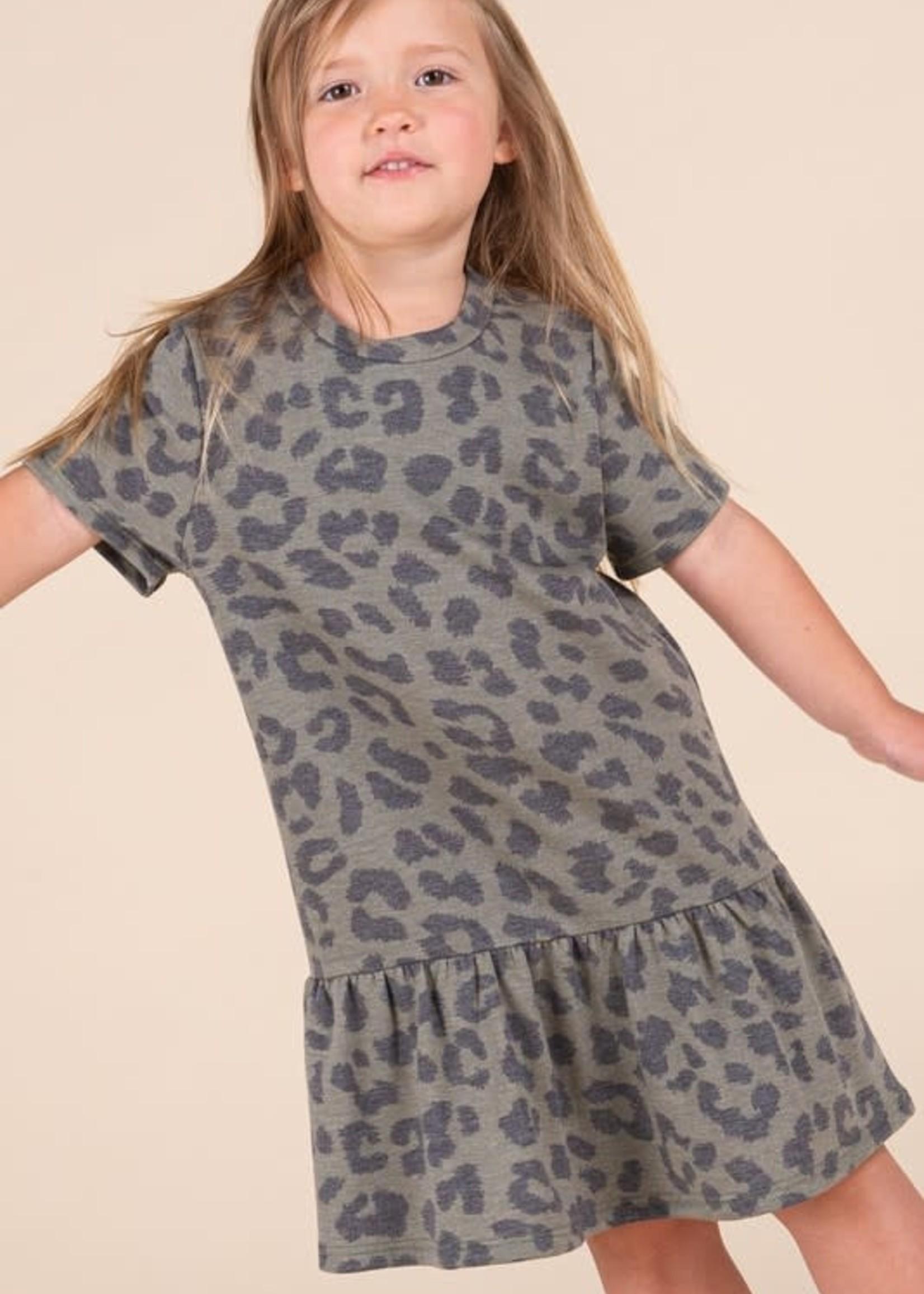 Animal Print Peplum Style Dress